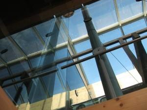 Impressie van de glazen wanden voor Factorij Franeker