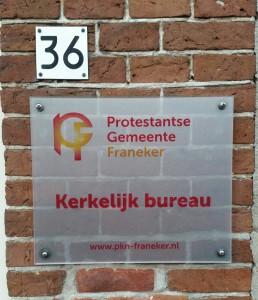 designglas folie logo op glas D&O Franeker