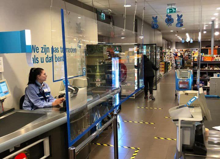 bescherming van klanten en medewerkers bij Albert Heijn Franeker